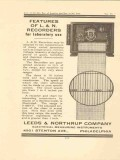 leeds northrup company 1922 recorder for laboratory use vintage ad