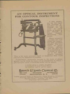 bausch lomb optical company 1923 contour inspections vintage ad
