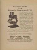 bausch lomb optical company 1923 binocular microscope ffse vintage ad