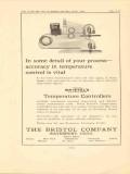 bristol company 1923 accuracy temperature control is vital vintage ad