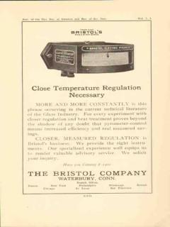 bristol company 1923 close temperature regulation optical vintage ad