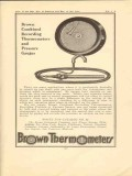brown instrument company 1923 combined recording gauges vintage ad