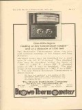 brown instrument company 1923 resistance thermometer temps vintage ad