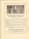 brown instrument company 1923 automatic control temperature vintage ad