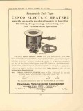 central scientific company 1923 cenco electric heater vintage ad