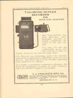 c j tagliabue mfg company 1923 tag mono duplex recorders vintage ad