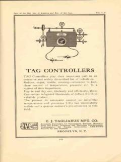 c j tagliabue mfg company 1950 tag controllers vintage ad