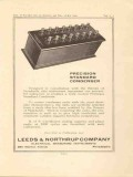 leeds northrup company 1923 standard condenser vintage ad