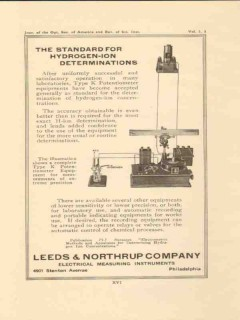leeds northrup company 1923 hydrogen-ion determination vintage ad