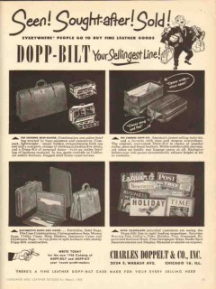 Charles Doppelt Company 1950 Vintage Ad Leather Seen Sought-After Sold