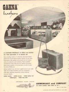 Loewengart Company 1950 Vintage Ad Gahna Leathers Products Good Made