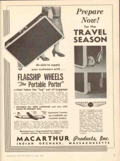 MacArthur Products Inc 1950 Vintage Ad Flagship Wheels Prepare Now