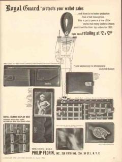 Philip Florin Inc 1950 Vintage Ad Leather Wallet Sales Royal Guard