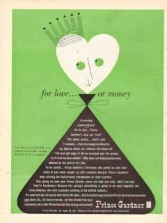 Prince Gardner Inc 1950 Vintage Ad Leather Goods Love Money Personal