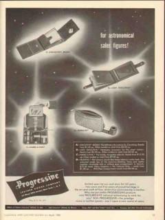 Progressive Leather Goods Company 1950 Vintage Ad Sales Figures