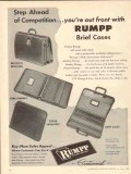 C F Rumpp Sons 1950 Vintage Ad Brief Cases Bags Step Ahead Competition
