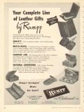 C F Rumpp Sons 1950 Vintage Ad Leather Gifts Complete Line Match-Mates