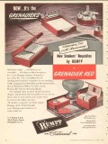 C F Rumpp Sons 1950 Vintage Ad Leather Smokers Grenadier Red