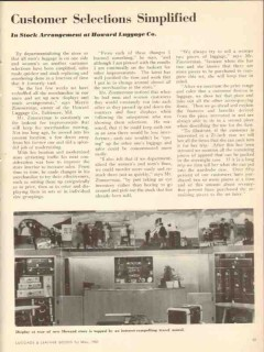 howard luggage co 1950 selections simplified zimmerman vintage article
