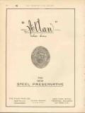atlas paint company 1912 atlan the new steel preservative vintage ad