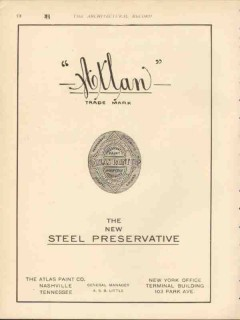 atlas paint company 1912 atlan the new steel preservative vintage ad