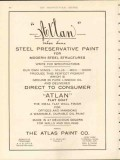 atlas paint company 1912 atlan steel preservative structure vintage ad