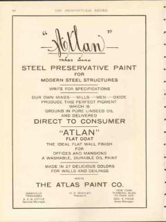 atlas paint company 1912 atlan steel preservative structure vintage ad