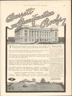 barrett mfg company 1912 county court house omaha ne roof vintage ad