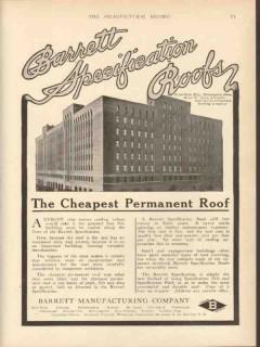 barrett mfg company 1912 butler bros bldg minneapolis roof vintage ad