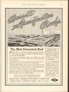 barrett mfg company 1912 warner bros corset bridgeport roof vintage ad
