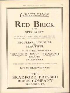 bradford pressed brick company 1912 gentlemen red specialty vintage ad