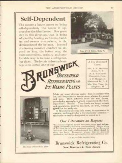 brunswick refrigerating company 1912 self-dependent vintage ad