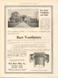burt mfg company 1912 for good ventilation light vintage ad