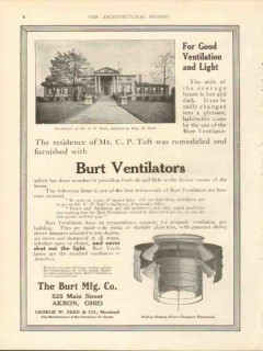 burt mfg company 1912 for good ventilation light vintage ad