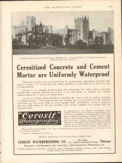 ceresit waterproofing company 1912 concrete cement mortar vintage ad