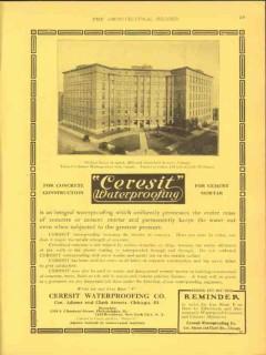 ceresit waterproofing company 1912 michael reese hospital vintage ad