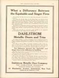 dahlstrom metallic door company 1912 equitable singer fires vintage ad