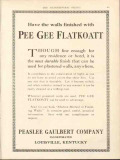 peaslee gaulbert company 1912 wall finish pee gee flatkoatt vintage ad