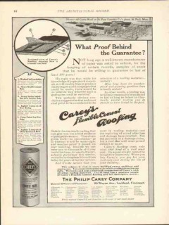 philip carey company 1912 what proof behind guarantee vintage ad