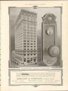 sargent company 1912 hoge building seattle wa hardware vintage ad
