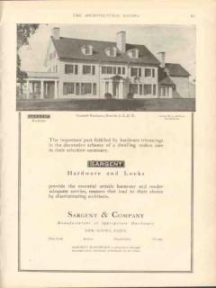 sargent company 1912 marshall residence hewlett ny hardware vintage ad