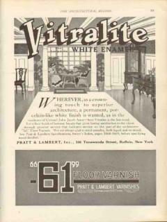 pratt lambert inc 1912 vitralite where ever crowning vintage ad