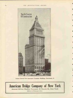 american bridge company 1912 union central life bldg cin oh vintage ad