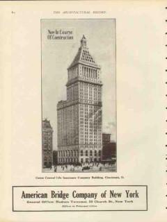 american bridge company 1912 union central life bldg cin oh vintage ad