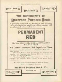bradford pressed brick company 1912 superior permanent red vintage ad
