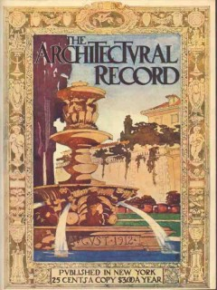 architectural record 1912 a g byne watercolor fountain print