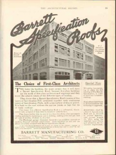 barrett mfg company 1912 e j thompson co pittsburgh pa roof vintage ad