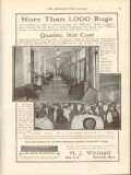 m j whittall 1912 hotel champlain fort william henry rugs vintage ad