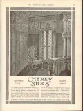 cheney brothers 1912 jacobean upholstery fabric silk vintage ad