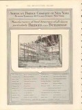 american bridge company 1912 columbia theater bldg sf ca vintage ad